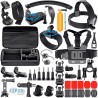 Kit de acessórios 48 peças para câmaras acção com mala